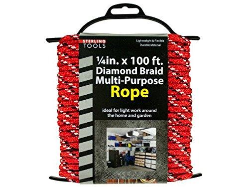 Bulk Buys OF955-12 Diamond Braid Multi-Purpose Rope on Holder44 12 Piece