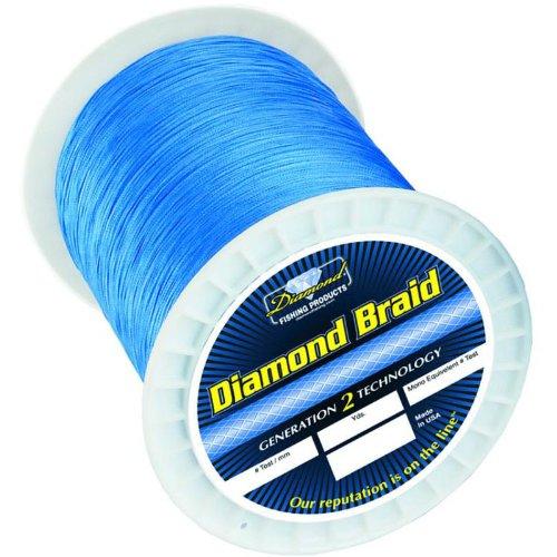Momoi Diamond Braid Spectra - 1200 yd Spool - 130 lb - Hollow - Blue