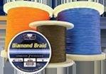 Momoi Diamond Braid Spectra - 600 yd Spool - 130 lb - Solid - Orange