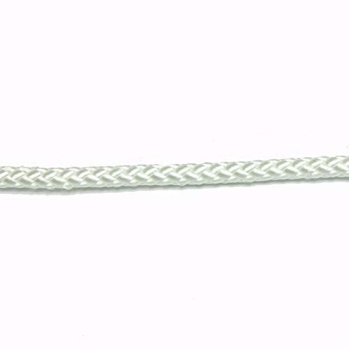 Paracord Galaxy 14 Nylon Diamond Braid Rope White Made in USA 50 Ft 177-061