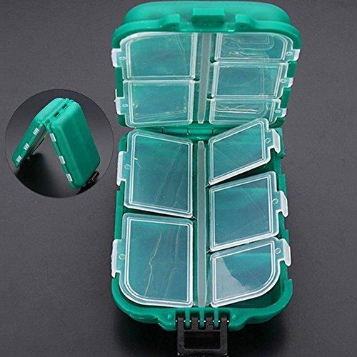 2 PCS Hard Fishing Tackle Box Case Waterproof Fishing Lure Plastic Boxes Hooks Lure Baits Storage Box